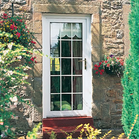 Full glass upvc front doors